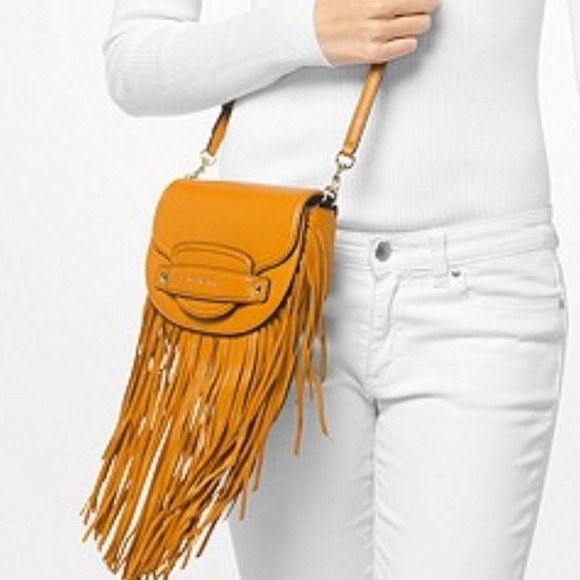 3305d0c1d52e Michael Kors Bags | Michael Cary Small Fringed Leather S | Poshmark